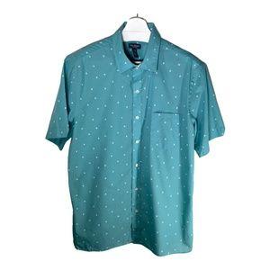 Van Heusen Mens Shirt Large 16-16.5 Short Sleeve